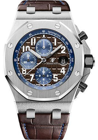 Audemars Piguet Royal Oak Offshore Selfwinding Chronograph Watch-Brown Dial 42mm-26470ST.OO.A099CR.01 - NY WATCH LAB
