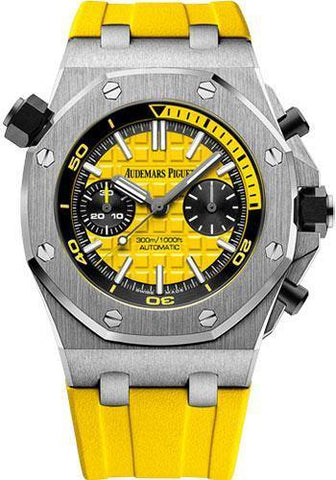 Audemars Piguet Royal Oak Offshore Diver Chronograph Limited Edition of 375 Watch-Yellow Dial 42mm-26703ST.OO.A051CA.01 - NY WATCH LAB