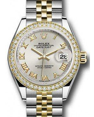 Rolex Datejust 28 279383 Silver Roman Diamond Bezel Yellow Gold & Stainless Steel Jubilee - Fresh