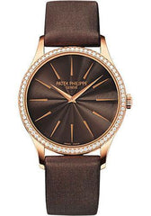 Patek Philippe 33mm Ladies Calatrava Watch Brown Dial 4897R