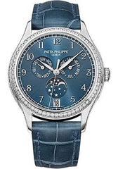 Patek Philippe 38mm Ladies Complications Annual Calender Watch Blue Dial 4947G
