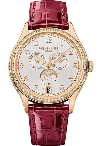 Patek Philippe 38mm Ladies Annual Calendar Complications Watch Sunbrust Dial 4947R