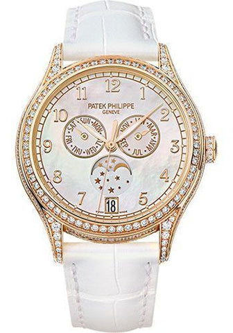 Patek Philippe 38mm Ladies Complications Annual Calender Watch White Dial 4948R
