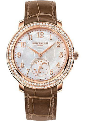 Patek Philippe 33.3mm Ladies Complications Watch White Dial 4968R