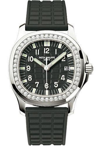 Patek Philippe 35.2mm Aquanaut Luce Watch Black Dial 5067A