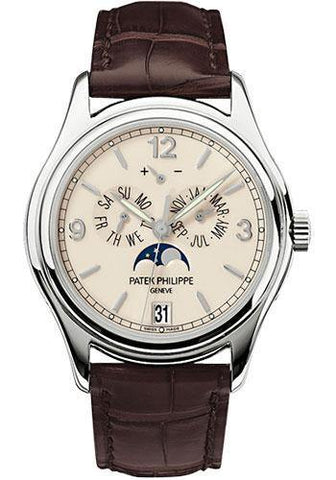 Patek Philippe 39mm Annual Calendar Compicated Watch Cream Dial 5146G