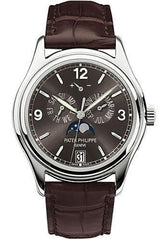 Patek Philippe 39mm Annual Calendar Compicated Watch Gray Dial 5146G