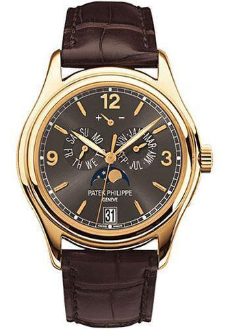 Patek Philippe 39mm Annual Calendar Compicated Watch Gray Dial 5146J
