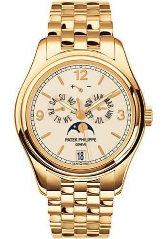 Patek Philippe 39mm Annual Calendar Compicated Watch Cream Dial 5146/1J