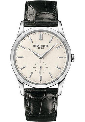 Patek Philippe 37mm Calatrava Watch Gray Dial 5196G