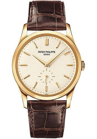 Patek Philippe 37mm Calatrava Watch White Dial 5196J