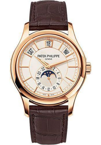 Patek Philippe 40mm Men Complications Watch Opaline Dial 5205R