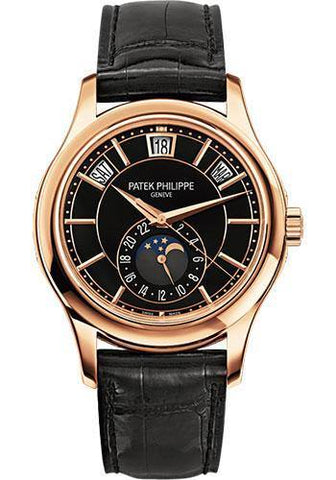 Patek Philippe 40mm Men Complications Watch Black Dial 5205R