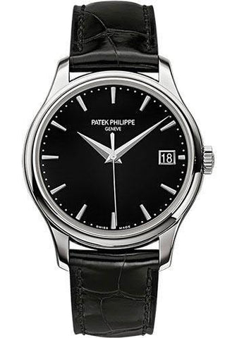 Patek Philippe 39mm Calatrava Watch Black Dial 5227G