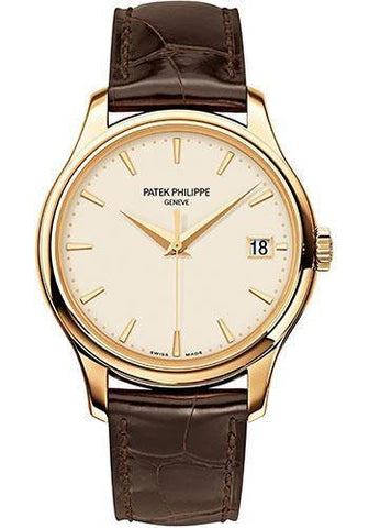 Patek Philippe 39mm Calatrava Watch Ivory Dial 5227J