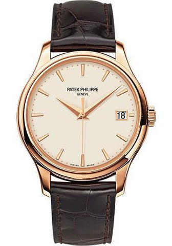 Patek Philippe 39mm Calatrava Watch Ivory Dial 5227R