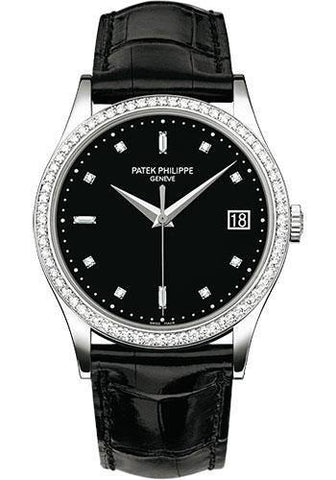 Patek Philippe 38mm Calatrava Watch Black Dial 5297G