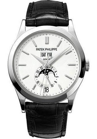 Patek Philippe 38mm Annual Calendar Complicated Watch Opaline Dial 5396G