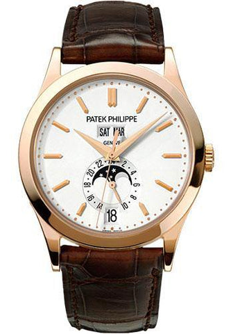 Patek Philippe 38mm Annual Calendar Compicated Watch Opaline Dial 5396R