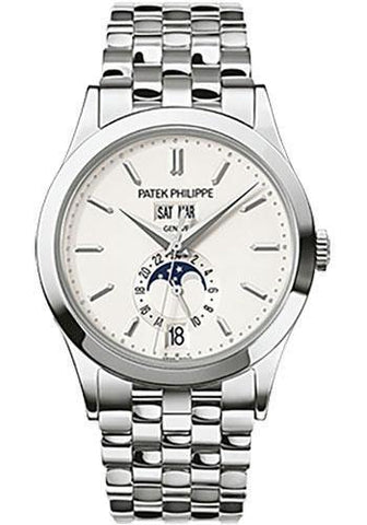 Patek Philippe 38.5mm Annual Calendar Complicated Watch Opaline Dial 5396/1G