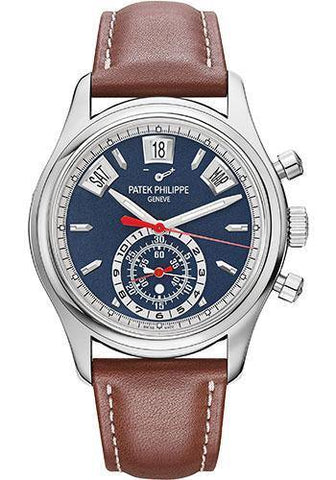 Patek Philippe 40.5mm Annual Calendar Chronograph Complications Watch Opaline Dial 5960/01G