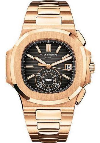 Patek Philippe 40.5mm Men Nautilus Watch Black Dial 5980/1R
