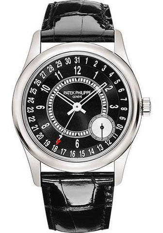 Patek Philippe 39mm Mens Calatrava Watch Black Dial 6006G