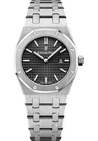 Audemars Piguet Royal Oak Quartz 33MM Black Dial Watch-Luxury Time NYC