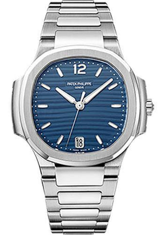 Patek Philippe 35.2mm Ladies Nautilus Watch Blue Dial 7118/1A - NY WATCH LAB