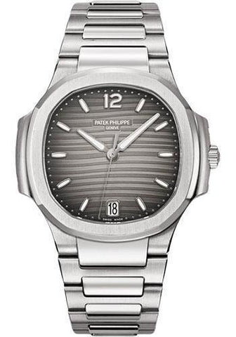 Patek Philippe 35.2mm Ladies Nautilus Watch Grey Dial 7118/1A - NY WATCH LAB