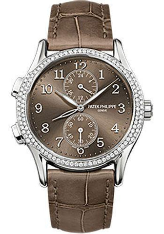 Patek Philippe 35mm Ladies Complications Watch Brown Dial 7134G