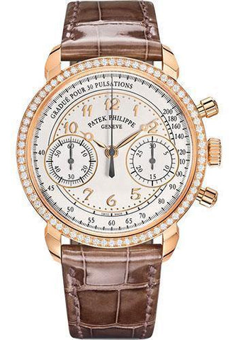 Patek Philippe 38mm Complications Chronograph - Rose Gold - Silvery Opaline Dial Opaline Dial 7150/250R