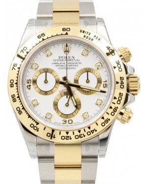 Rolex Daytona Yellow Gold/Steel White Diamond Dial Yellow Gold Bezel & Oyster Bracelet 116503 - Fresh