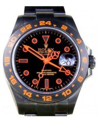 Rolex Explorer II 216570 Men 42mm PVD DLC Orange Stainless Steel Black GMT - Fresh