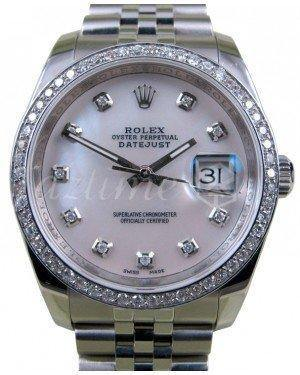 Rolex Datejust 116200 White Mother Of Pearl Diamond 36mm Stainless Steel Jubilee Fresh - NY WATCH LAB