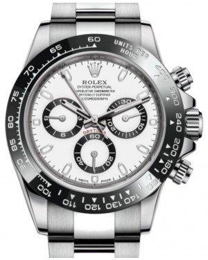 Rolex Daytona Stainless Steel White Index Dial Ceramic Bezel Oyster Bracelet 116500LN - Fresh