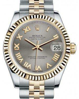 Rolex Datejust 31 Lady Midsize Yellow Gold/Steel Steel Roman Dial & Fluted Bezel Jubilee Bracelet 178273 - Fresh - NY WATCH LAB