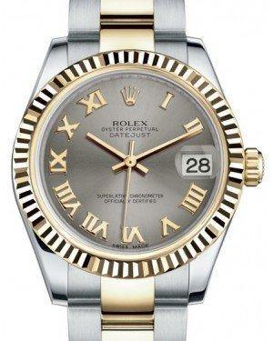 Rolex Datejust 31 Lady Midsize Yellow Gold/Steel Steel Roman Dial & Fluted Bezel Oyster Bracelet 178273 - Fresh - NY WATCH LAB