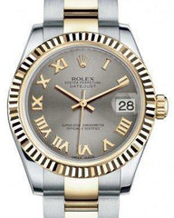 Rolex Datejust 31 Lady Midsize Yellow Gold/Steel Steel Roman Dial & Fluted Bezel Oyster Bracelet 178273 - Fresh