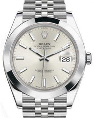 Rolex Datejust 41 Stainless Steel Silver Index Dial Smooth Bezel Jubilee Bracelet 126300 -  Fresh