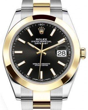 Rolex Datejust 41 Yellow Gold/Steel Black Index Dial Smooth Bezel Oyster Bracelet 126303 -  Fresh