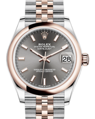 Rolex Lady-Datejust 31 Rose Gold/Steel Rhodium Index Dial & Smooth Domed Bezel Jubilee Bracelet 278241 - Fresh - NY WATCH LAB