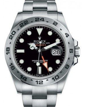 "Rolex Explorer II ""Steve McQueen"" GMT Stainless Steel Black Dial 42mm Oyster Bracelet 216570 - Fresh"