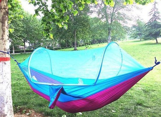 【 Free Shipping】LockMesh+ Camping Netted Hammock (Maximum Load 300kg!!)