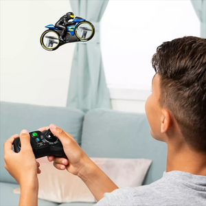 Land-air dual-mode motorcycle toy of remote control aircraft