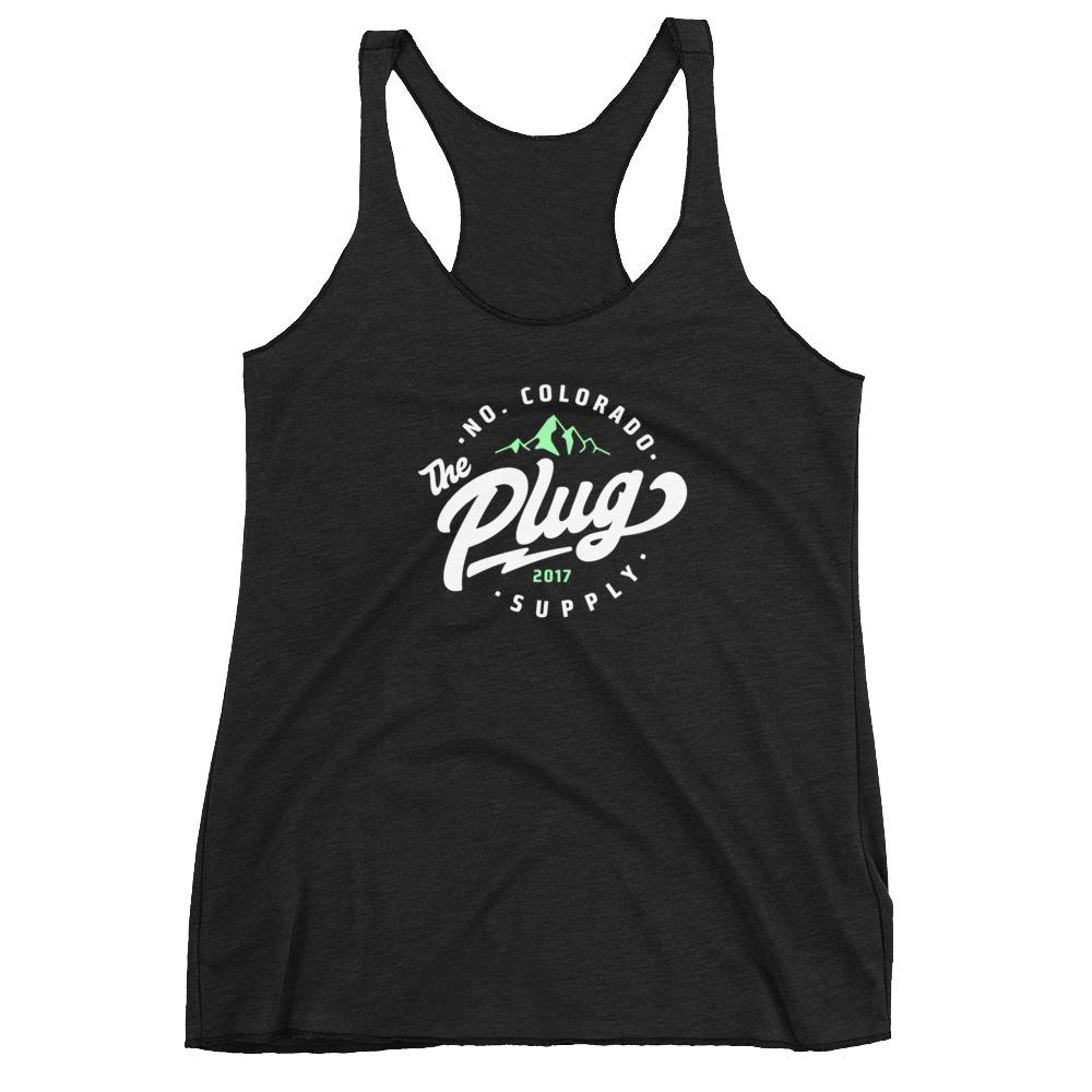 The Plug Women's Racerback Tank (Stamp logo)