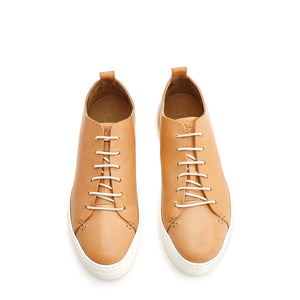 Leather Tennis Shoes Natural – Hunt