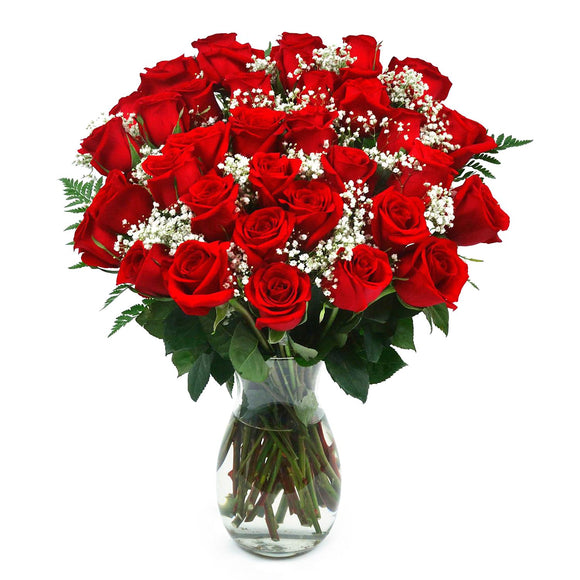 Classic Red Rose Bouquet, 36 Stems