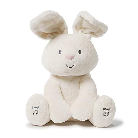 Baby GUND Flora The Bunny Animated Plush Stuffed Animal Toy, Cream, 12