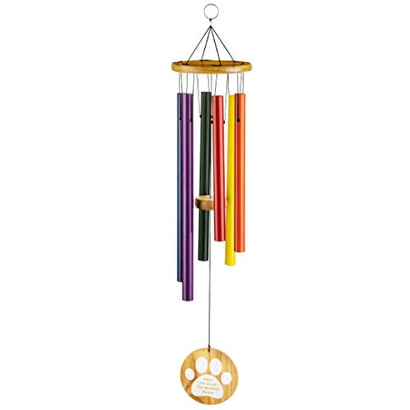 "Humane Goods 25"" Pet Memorial Rainbow Bridge Wind Chime"